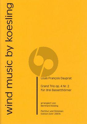Dauprat Grand Trio Op.4 No.2 3 Basset horns (Score/Parts)
