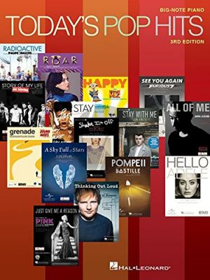 Today's Pop Hits Big-Note Piano