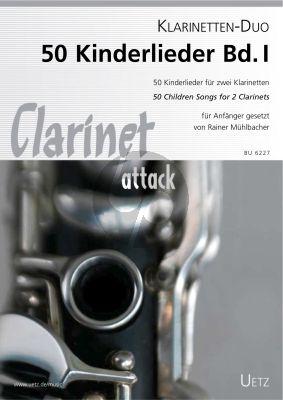 50 Kinderlieder Vol.1 2 Klarinetten (Rainer Mühlbacher)