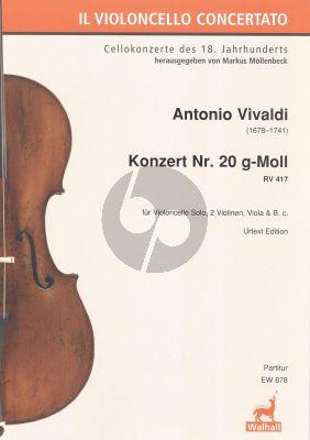 Vivaldi Concerto g-moll RV 417 Violoncello-Str.-Bc Partitur