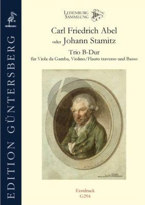 Abel/Stamitz Trio B-flat major Viola da Gamba-Violin[Flute] and Basso