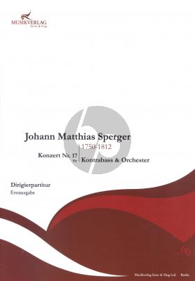 Sperger Concerto A-major No.17 Double Bass-Orch. Full Score