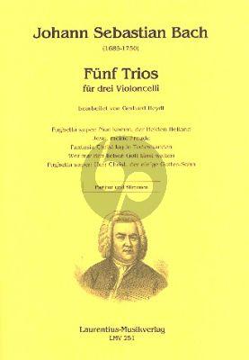 Bach 5 Trios 3 Violoncellos (Part./Stimmen)