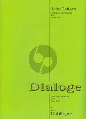 Takacs Dialoge nach Vogelstimmen Flöte solo