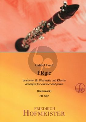 Faure Elegie Op.24 Clarinet[Bb]-Piano (arr. Mark Denemark)