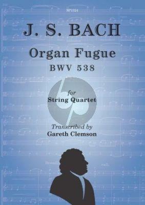 Bach Organ Fugue BWV 538 for String Quartet (Score/Parts)