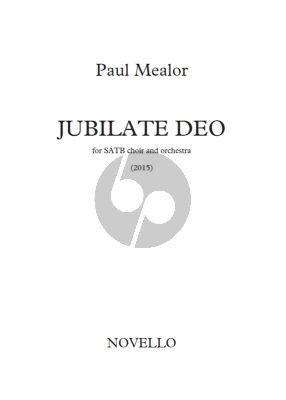 Mealor Jubilate Deo SATB-Orch. Score