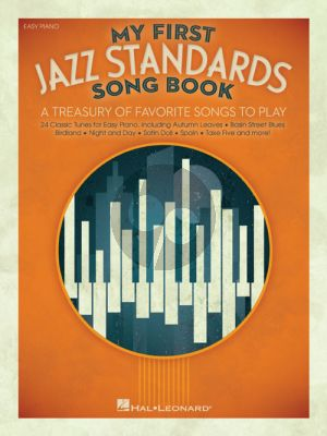 My First Jazz Standards Song Book Easy Piano
