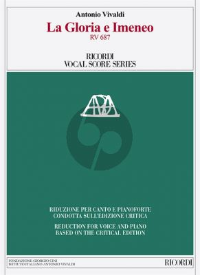 Vivaldi La Gloria e Imeneo RV 687 Opera Vocal Score