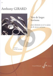 Girard Vers de Larges Horizons Clarinet[Bb]-Piano