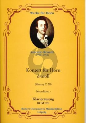Rosetti Concerto d-minor (Murray C.38) Horn-Orch. (piano red.)