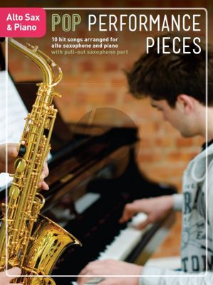 Pop Performance Pieces Alto Sax.-Piano