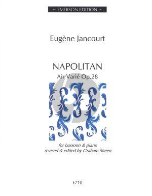 "Jancourt Napolitan ""Air Varié"" Op.28 Bassoon-Piano"