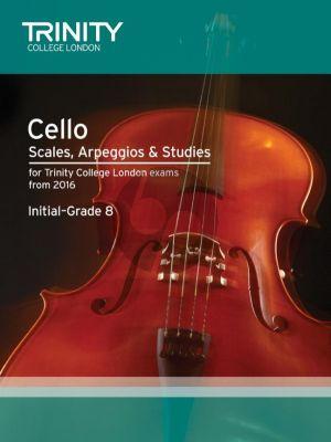 Cello Scales, Arpeggios & Studies Initial–Grade 8