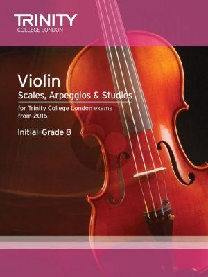 Violin Scales, Arpeggios & Studies Initial–Grade 8
