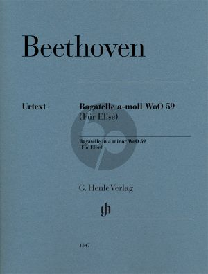 Beethoven Bagatelle a-moll WoO 59 (Für Elise) Klavier