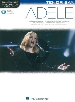 Adele Instrumental Play-Along Tenor Sax. (Book with Audio)