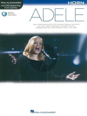 Adele Instrumental Play-Along Horn (Book with Audio online)