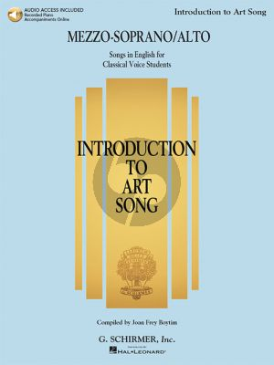 Introduction to Art Song for Mezzo-Soprano/Alto (Book with Audio online)