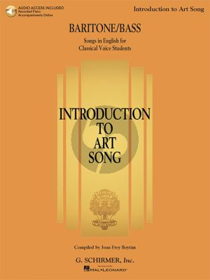 Introduction to Art Song for Baritone/Bass (Book with Audio online)