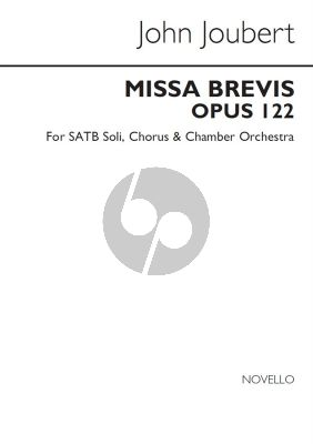 Joubert Missa Brevis Op.122 SATB soli-Choir-Orch. Vocal Score