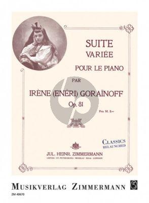 Gorianoff Suite variée Op.81 pour le piano
