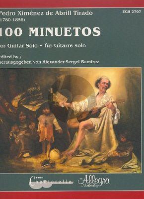 Ximénez de Abrill Tirado 100 Minuetos Guitar (edited by Alexander Serge Ramirez)