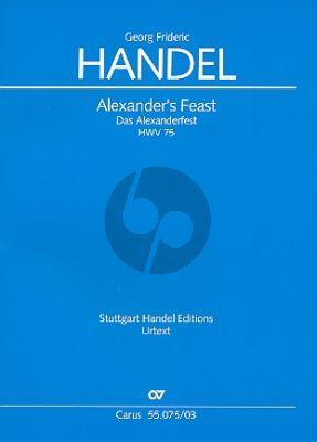 Handel Alexander's Feast HWV 75 Vocal Score