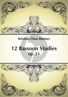 12 Bassoon Studies Op.33
