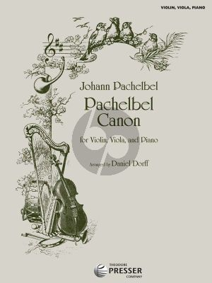 Pachelbel Canon Violin-Viola-Piano (Score/Parts) (arr. Daniel Dorff)