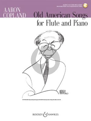 Copland Old American Songs Flute-Piano (Book with Audio online)