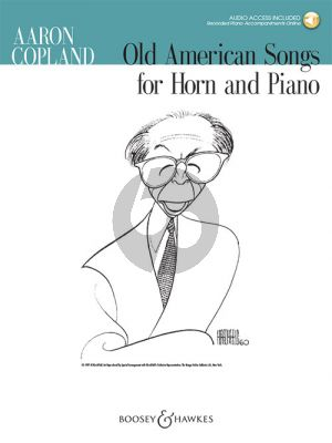 Copland Old American Songs Horn and Piano (Book with Audio online