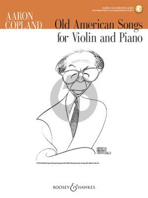 Copland Old American Songs Violin and Piano (Book with Audio online)