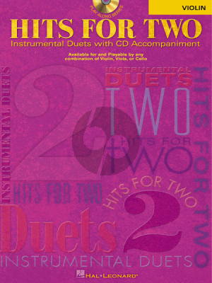 Hits for Two Instrumental Play-Along for Violin (Bk-Cd)