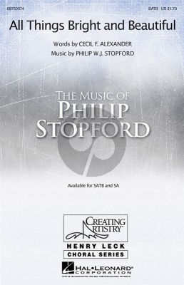 Stopford All Things Bright And Beautiful (SATB-Organ[Piano])