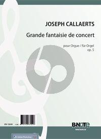 Callaerts Grande fantaisie de concert Op. 5 für Orgel