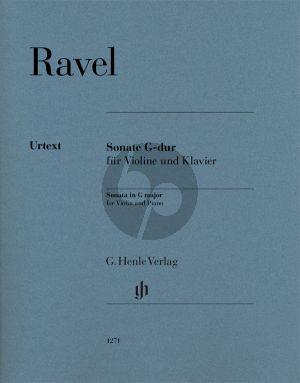 Ravel Sonata G-major Violin-Piano (edited by Ulrich Krämer)