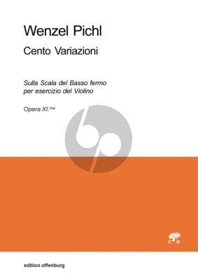 Pichl 100 Variazioni (Sulla Scala del Basso fermo per esercizio del Violino) Op.11 Violine (Reinhard Goebel)