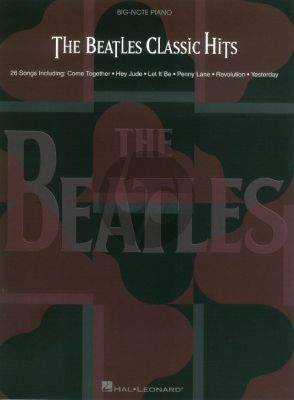 The Beatles Classic Hits Big Note Piano
