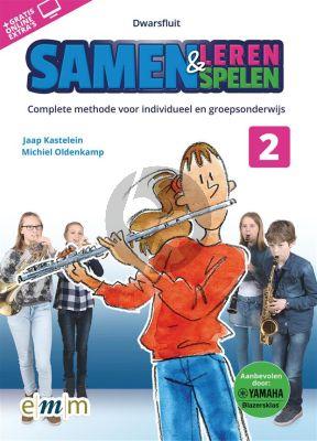 Oldenkamp-Kastelein Samen Leren & Samenspelen Vol.2 Dwarsfluit Boek-Audio-Online