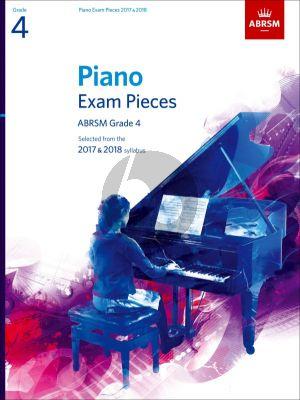 Piano Exam Pieces 2017-2018 Grade 4 ABRSM (Book)