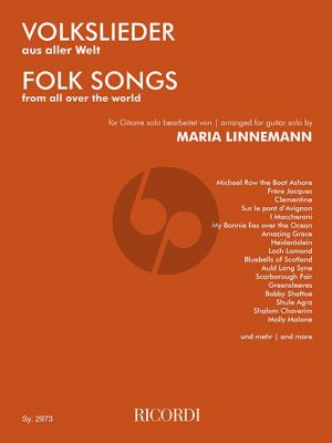 Volkslieder aus aller Welt Gitarre (transcr. Maria Linnemann) (leicht)