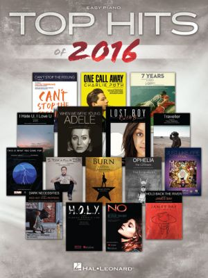 Top Hits of 2016 Easy Piano (with Lyrics and Chords)