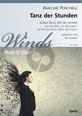 """Ponchielli Tanz der Stunden (aus """"La Gioconda"""") Piccolo-Flöte-Oboe-Fagott"""