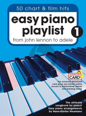 Easy Piano Playlist Vol.1 From John Lennon to Adele