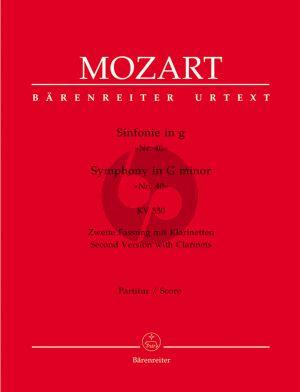 Mozart Symphonie No.40 g-moll KV 550 Orch. (2e Fassung) Partitur