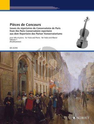 Pièces de Concours from the Paris Conservatoire Repertoire Vol.1 Viola-Piano