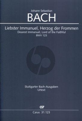 Bach Kantate BWV 123 Liebster Immanuel, Herzog der Frommen (Partitur) (Frieder Rempp)