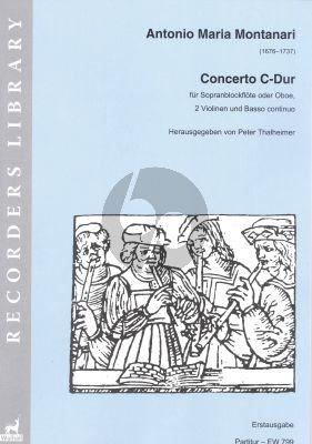 Montanari Concerto C-major Descant Rec. (or Oboe)- 2 Vi.-Bc