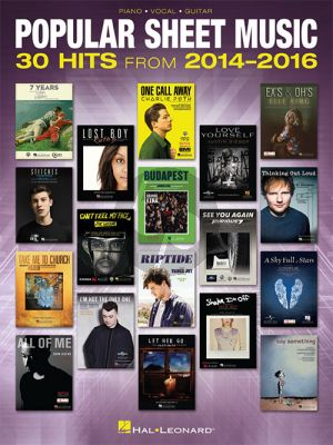 Popular Sheet Music. 30 Hits from 2014-2016 Piano-Vocal-Guitar